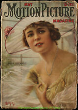 MOTION PICTURE MAGAZINE 1917 May Issue - ANITA STEWART On Cover