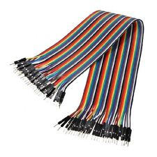 40pcs Dupont Wire Color Jumper Cable 1P to 1P Male to Male For Solderless Bread