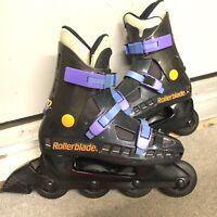 Vintage Rollerblade AERO BLADE Black/Orange/Purple Mens Inline US Size 8/8.5