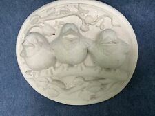 Vintage Carruth Studio 1992 Baby Birds Hand Cast Stone Plaque Sculpture