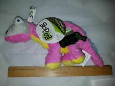 Go Dog Dinos Toy Small Squeaker Pink Yellow Teal Spike Stegosaurus Chew Guard