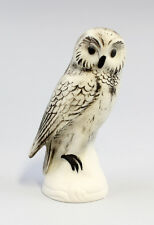 Figurine Porcellana Gufo tawny gufo Bisquit Wagner&Apel H12cm 9942287