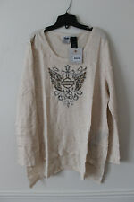 New Harley-Davidson women thermal sweatshirt long sleeve studded Wing size 3W