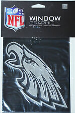 Philadelphia Eagles Silver Chrome Vinyl Window Graphic Decal NFL Football