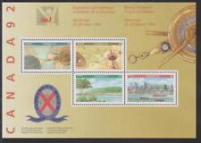 1992 Canada SC# 1407a Canada 92 Philatelic Exhibition - S. S. Lot 106 M-NH