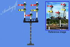 LEGO train  semaphore train signals on a gantry custom set instructions