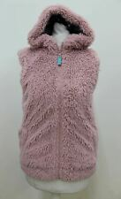 MINI-BODEN Girls Pink Teddy Zip Hooded Gilet Bodywarmer Jacket Age 11-12 Years