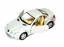 "Brand New 5"" Kinsmart Mercedes Benz SLK Class Diecast Model Toy Car 1:32 SILVER"