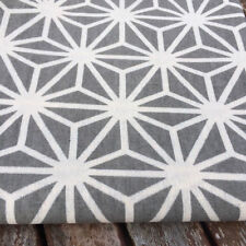 Stars on Grey LINEN - Cotton Fabric. Price per 1/2 meter