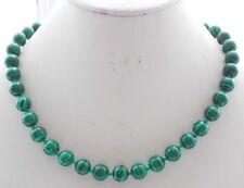 17 inch 10mm grüne Malachit Halskette