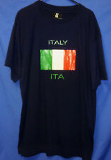 "Italian Flag Olympic Code ITA Sport Supporters Tee Shirt top Mens Large 44"" MSD"