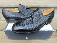 NEW Vintage Loake Bros Tassle Loafer Dress Shoes Black Made in England Leather