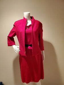 St John Collection Pink Dress Jacket 2 Piece Set 6/8