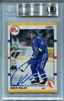 QUEBEC OWEN NOLAN signed autographed 1990-91 SCORE TRADED ROOKIE CARD RC BECKETT