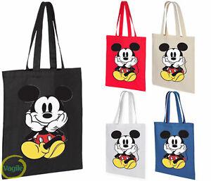Womens Mickey Mouse Designer Handbag Shoulder Shopping Cotton Tote Messenger Bag