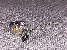 Silver Blue Stone In Center Tie Clip Pin Clasp From An Estate Sale E-12