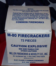 MILLER FIREWORKS & NOVELTY CO., INC. M-80 HISTORICAL FIRECRACKER BOX REPLICA