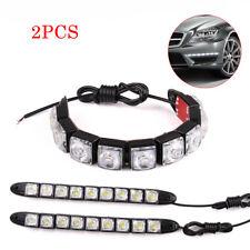 2PC Bright LED Daytime Light DRL Car Flexible Fog Driving Head 12V 9 Lamp Lights