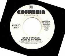 EARL SCRUGGS PEDAL TO THE METAL USED WHITE LABEL PROMO 45RPM VINYL