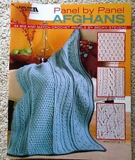 Leisure Arts PANEL BY PANEL AFGHANS crochet pattern book - SALE