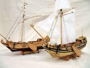 "ZHL Holland Yacht Ships scale 1:20 L 18.5"" wooden model ship kit"