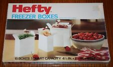 Vintage Mobile Chemical Co Hefty Freezer Boxes - 15 in box New and Unopened 1984