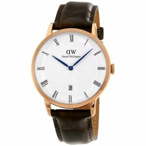 Daniel Wellington Men's Dapper York Rosegold  1102DW Brown Leather Quartz watch