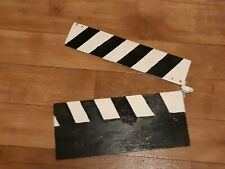 Vintage Hollywood Style Black White Wooden Film Clapperboard Accessory