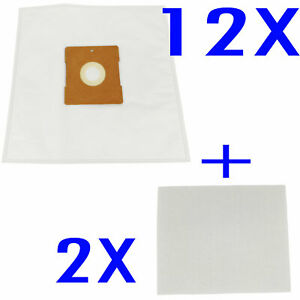 12 Bags + 2 Filters compatible with Hoover Conquest VC2030 H5001, Silverado 1400