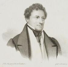 LUTHERER, Portrait des Wilhelm von Hartmann, 19. Jh., Lithographie