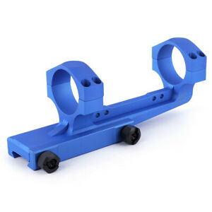 Blue Cantilever Scope Mount 30mm Tube 2inch Offset For 20mm Picatinny Rail 0 MOA