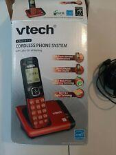 Vtech RED Cordless Home Phone Handset & Base Charger  Model CS6719 -16 Caller ID
