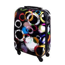 Handgepäck Hartschalen Reise Koffer Trolley Bordgepäck 30 Liter  Multi Color