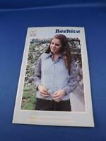 BEEHIVE PATTERN BOOK MISTY DESIGNS TO KNIT AND CROCHET VEST SWEATER HAT SCARF