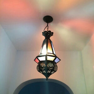 Classic Moroccan Style Pendant Light Fixture Hanging Ceiling Lamp Hotel Hall
