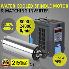 CNC 1.5KW 1500W Milling Spindle Motor Water Cooled Engraver 65mm ER11 Router