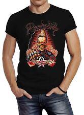 Herren T-Shirt Rockabilly Skull Rock n Roll Würfel Gambling Slim Fit Neverless®