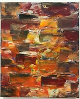 ORIGINAL ABSTRACT CONTEMPORARY ART ACRYLIC RED PAINTING ON CANVAS BY T A WALKER