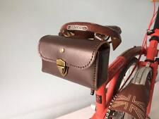 Genuine Leather Bicycle Saddle Bag,Tool Bag,Vintage,Brooks,Brompton(Dark Brown)