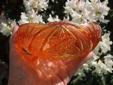 European Carnival Glass.Brockwitz Curved Star Rosebowl.Unusual Shape,.VGC