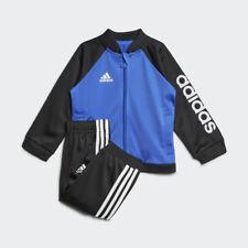 adidas Shiny Sports Infant Toddler Baby Kids Boys Tracksuit Set Blue/black 9-12 Months