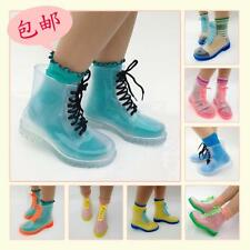 Kawaii Clothing Cute Shoes Boots Rain Ropa Zapatos Botas Clear Transparent Candy
