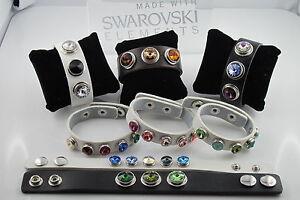 Armbänder im Chunk Style + Druckknöpfe Sets mit SWAROVSKI® Kristall 12mm + 18mm