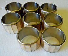 8 Vintage  Napkin Rings Abalone Sea Shells Iridescent Mother of Pearl