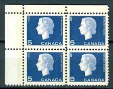Canada #405p Corner Block 4 UL Cameo W2B Tagged MNH