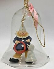 Vintage Clear Glass Bell With Clown And Dog