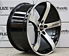 "19"" ALLOY WHEELS CRUIZE BLADE BP BLACK DIAMOND CUT POLISHED CONCAVE 5X112 ALLOYS"