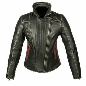 Spada Baroque Ladies Leather Motorcycle Bike Women Jacket Waterproof Cruiser
