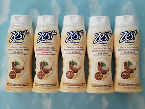 LOT(5) ZEST CREAMY INDULGENCE WITH COCOA BUTTER & SHEA BODY WASH  16.5 FL OZ
