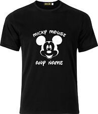 PERSONALISED MICKY MOUSE FACE  FUNNY HUMOUR COTTON T SHIRT